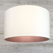Drum Lamp Shade White